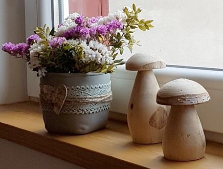 Fensterdecko-Pilze