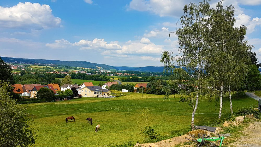 Aussicht vom Hummenberg Ferienwohnung Ruf in Küps